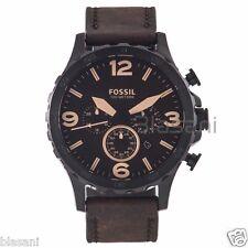Fossil Original JR1487 Men's Nate Brown Leather Watch 50mm