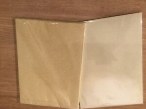 Parchment paper natural or aged A4 90gsm pack of 50 free cutting service