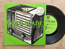 """Gold Blade: Not Even Jesus: Limited Edition 841 / 2000 NR Mint  7"""" Vinyl Single"""
