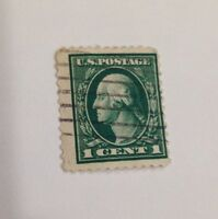 Rare George Washington Antique Stamp Collectible Coins USA Green 1 cent Penny