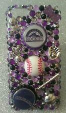 Colorado Rockies MLB bling case iPhone 4s,5,5s,5c,6,Samsung Galaxy S3,S4&S5
