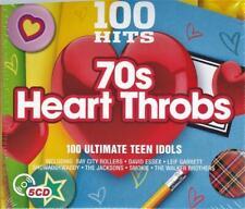 100 HITS-70'S HEART THROBS - ULTIMATE TEEN IDOLS  (NEW SEALED 5CD)