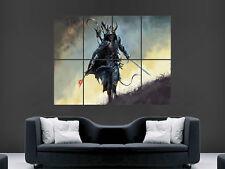 Guerrier épée fantasy giant wall poster art photo imprimé large