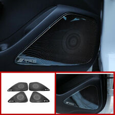 Black Interior Door Speaker Trim Decor Cover Frame 4pcs For Toyota Corolla 2020