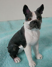 Boston Terrier Dog Christmas Tree Ornament or Figurine Statue ~ Seated