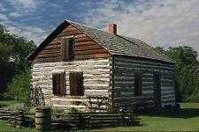 Pioneer Log Home, Museum of Arts & History, Port Huron, Michigan, MI -- Postcard