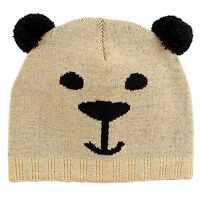 Animal Bear Beanie Childrens Hat Warm Kids Winter Knit Knitted Girls Boys