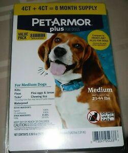 Pet Armor Plus Flea & Tick Prevention 8 TREATMENTS!!! Medium Dog 23-44lbs
