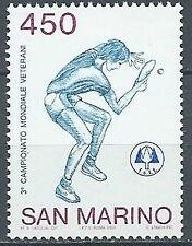 1986 SAN MARINO TENNIS TAVOLO PING PONG MNH ** - ED
