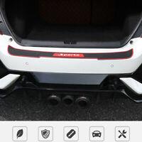 Black Universal Car Rear Bumper Protector Plate Rubber Cover Guard Trim Pad UK