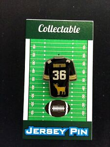Pittsburgh Steelers Jerome Bettis jersey lapel pin-Team GOAT-Hop on the BUS