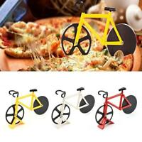 Stainless Steel Bicycle Pizza Cutter Bike Dual Slicer Chopper Fr Home Use Funny