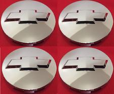 """4X 2007-2013 Chevrolet 3.25"""" Chrome Center Caps For 18"""" 20"""" 22"""" Wheels #9596403"""