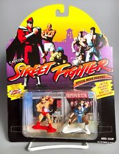 Rare 1994 STREET FIGHTER Diecast Metal Figures CHUN LI vs. ZANGIEF Hasbro Capcom