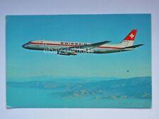SVIZZERA SWISSAIR aereo dc 8-62 Swiss old postcard vecchia cartolina