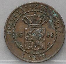Nederlands Indie - NETHERLANDS EAST INDIES 1 CENT 1858 - KM# 307.2