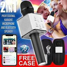 Karaoke Microphone Speaker Q7 Wireless Bluetooth Magic MINI USB mic Speaker UK