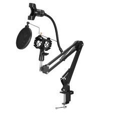 Mikrofonständer Tischstativ Microfon Halterung inkl. Klemmhalter Filterschild