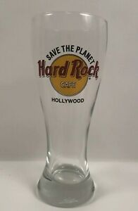 Hard Rock Cafe Hollywood Save The Planet Tall Pilsner Beer Glass