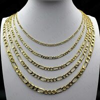 "Real 10K Solid Yellow Gold 2mm - 6mm Figaro Link Chain Necklace Bracelet 7""- 30"""