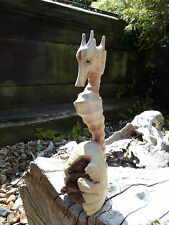 More details for fair trade hand made carved wooden marine fish sea seahorse parasite sculpture