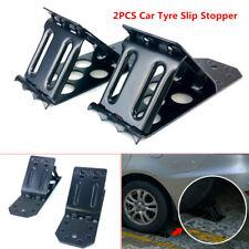 2X Tyre Slip Stopper Iron Plate Car Wheel Tire Chock Stop Block Slope Anti-slip
