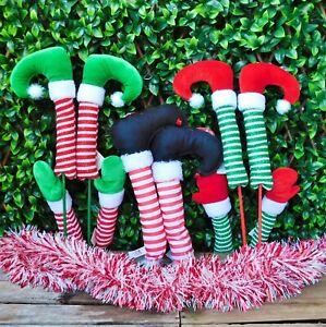Pair Elf Arms & Hands OR Legs & Feet Christmas Tree Decoration Naughty Elves