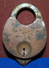 VINTAGE UNBRANDED BRASS PADLOCK HEART SHAPED LOCK NO KEY 2.25X1.5 INCH ~104~