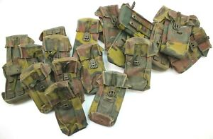 LOT of 2 x BELGIAN ARMY AMMO POUCHES in JIGSAW CAMO