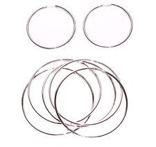 PLAIN JANE CLEAN SILVER/CHROME EARRINGS & 5 PIECE BANGLE SET GREAT GIFT (ZX54TR)