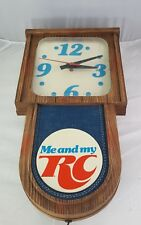 VINTAGE AUTHENTIC RC COLA CLOCK  ME AND MY RC WORKING CONDITION promo rare