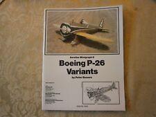 Aerofax Minigraph 8 Boeing P-26 Variants