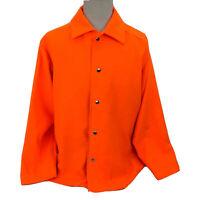Blaze Orange Lightweight Hunting Jacket Snap-Front Mens XL Handmade