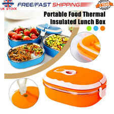 Kids Adults Food Warmer Thermo School Picnic Lunch Box Insulated Food Container