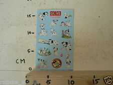 STICKER,DECAL DALMATIENS STICKERS SHEET DISNEY BOEKENCLUB HONDEN