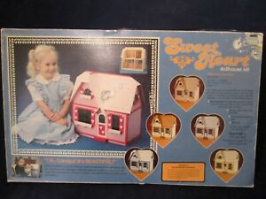 "The Sweet Heart Vintage Dollhouse Kit New Unassembled IOB 1"":1' Scale Four Rooms"