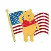 RARE Disney Pin 70738 Old Glory Winnie the Pooh Patriotic American Flag LE 125 !