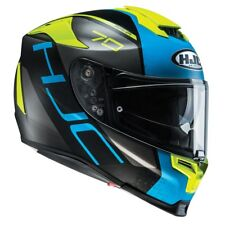 HJC RPHA 70 Vias Blue / Fluo - Full face motorcycle helmet £100 OFF
