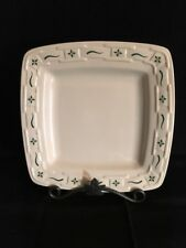 Longaberger Woven Traditions Soft Square Luncheon Plate - Heritage Green