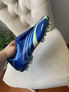 Adidas +F50 Tunit Vintage Rare BLUE Soccer Cleats Size US 10 Eur 44 1/2 28 cm