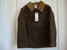 Gymboree EXTREME ANIMALS Brown Canvas Jacket Coat Boy Size M Medium 7 - 8 NWT