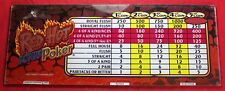 Red Hot Bonus Poker Glass Slot Machine Panel Sign - Video - Payout