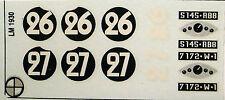 decals 1/43: Tracta A28 Le Mans 1930 N°26 & 27