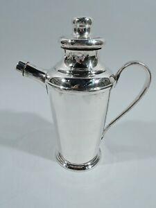 Midcentury Modern Shaker - Cocktail Martini - Peruvian Sterling Silver - Siam