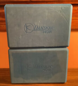 2 Danskin Now - Blue foam Yoga Blocks 9 x 6 x 3 - Lightly Used