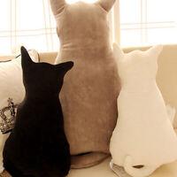 Cat Shape Soft Plush Back Shadow Toy Sofa Pillow Seat Cushion Kids Accompany Toy