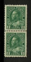 Canada SC# 107, pair, Mint Never Hinged, bottom stamp with tiny page rem - S2659