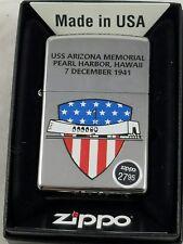ZIPPO Lighter 250 WW2 USS Arizona Memorial Pearl Harbor December 7 1941 Hawaii