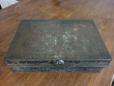 Vintage metal deed box - storage