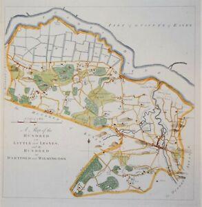 "KENT - LITTLE & LESNES, DARTFORD & WILMINGTON FOR HASTEDS ""HISTORY OF KENT"" 1778"